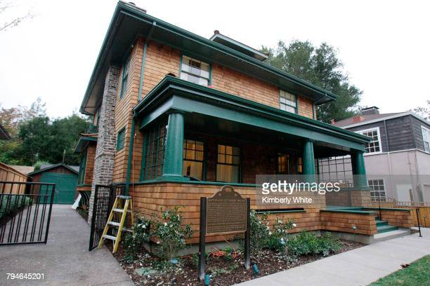 The former home of Hewlett-Packard founders Bill Hewlett and Dave Packard and the garage in the back where the company first started in 1938. HP has...
