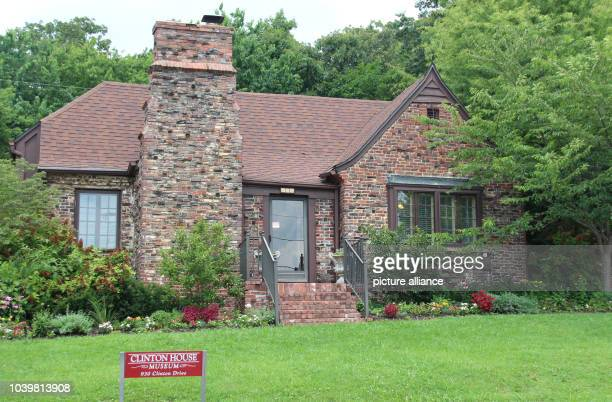The former house of the Clintons in Fayetteville, Arkansas, US, which is now home to a museum. In 1975 the Clintons married here, as seen on 01 July...