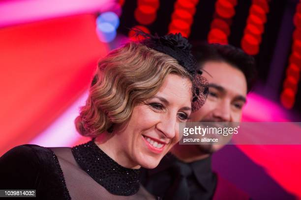 The former ice skater Anni FriesingerPostma and the professional dancer Erich Klann during the RTL dance show 'Let's Dance' at the Coloneum in...