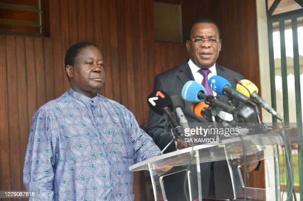 The former Ivorian president Henri Konan Bedie , president and presidential candidate of the Democratic Party of Ivory Coast , and Former Ivorian...