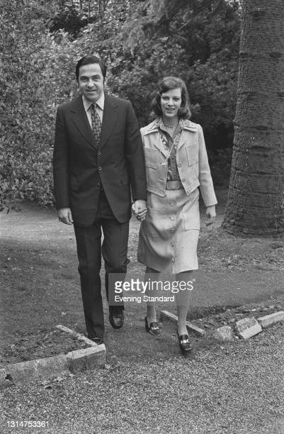 The former King Constantine II and Queen Anne-Marie of Greece, UK, 26th July 1974. They reigned in Greece until the abolition of the monarchy in 1973.