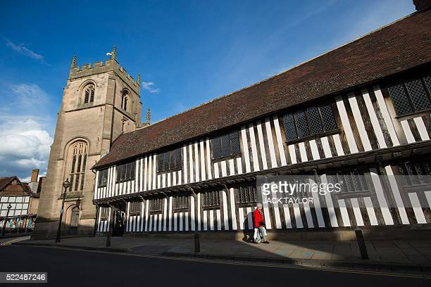 The former King Edward VI Grammar School and Guildhall where British poet and playwright William Shakespeare attended is pictured in...