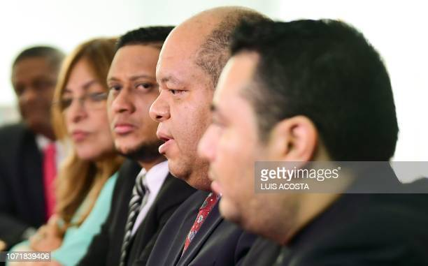The former lawyer of Panama's exPresident Ricardo Martinelli Rosendo Rivera and plaintiff in the case which accuses Martinelli of allegedly spying on...