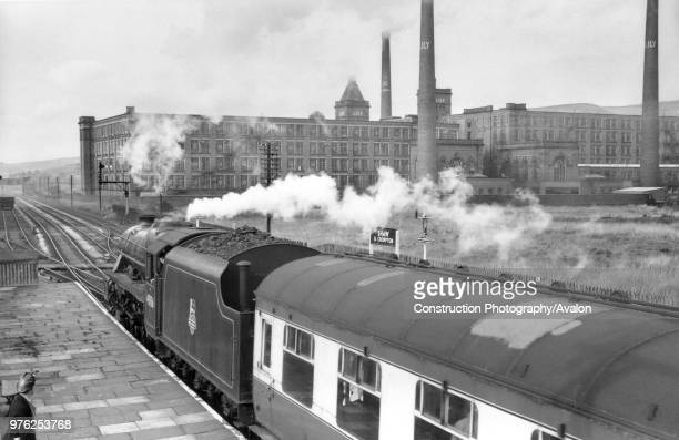 The former LY station at Shaw and Crompton looking north on 29th August 1957 A passenger special from Blackpool to Oldham and Rochdale is headed by...