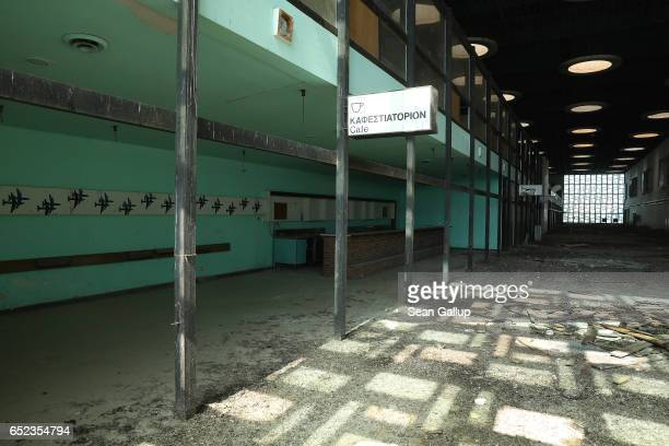 The former main terminal at Nicosia International Airport stands decaying inside the buffer zone on the southern, Greek side of the divided city on...