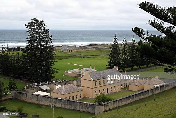 The former military barracks in Kingston in the Australian territory of Norfolk Island 03 February 2007 are where New Zealander Glenn McNeill is...