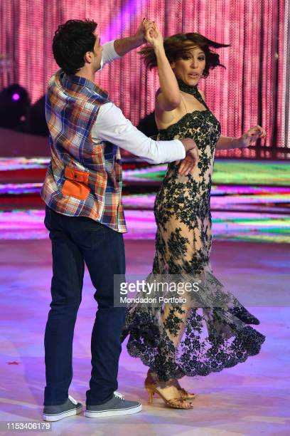 The former minister Nunzia De Girolamo with his dance master Raimondo Todaro during the final episode of the show Ballando Con Le Stelle auditorium...
