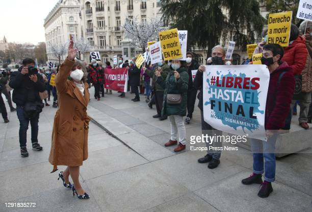 The former Minister of Health and current Secretary of Health of the Federal Executive Commission of the PSOE, María Luisa Carcedo , beside a rally...