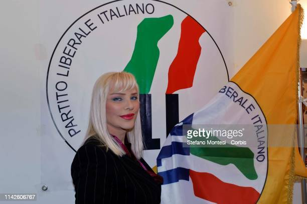 The former porn star Ilona Staller in art Cicciolina runs for office in the municipal elections of Rome in the lists of the Italian Liberal Party on...