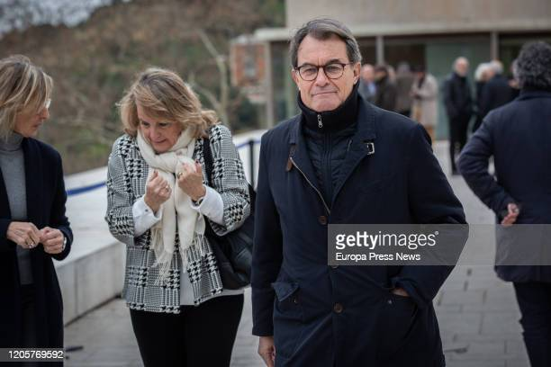 The former president of Cataluña Artur Mas after the funeral of Diana Garrigosa wife of the former president of Cataluña Pasqual Maragall at the Sant...