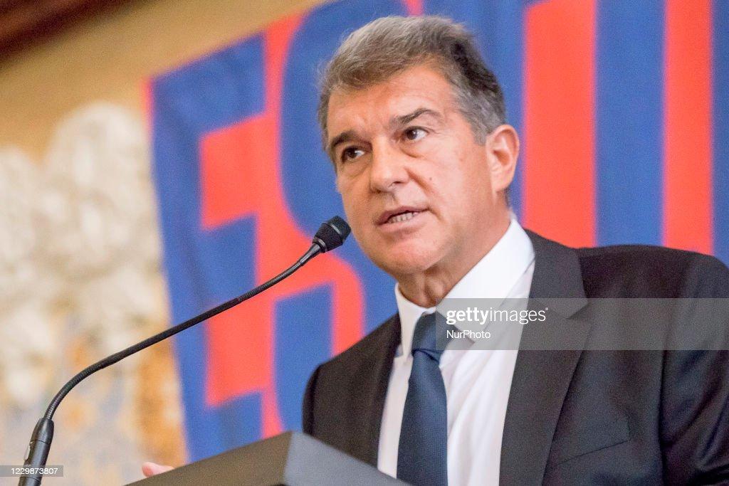 Joan Laporta, Candidate To FC Barcelona Chairman : News Photo