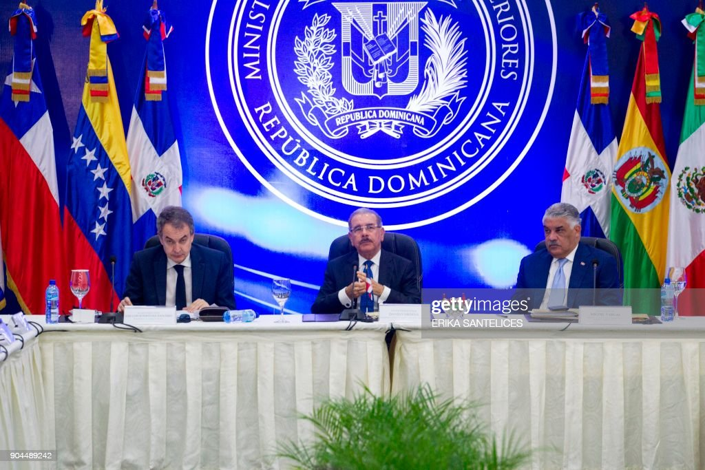 DOMINICAN REP-VENEZUELA-CRISIS-DIALOGUE : News Photo