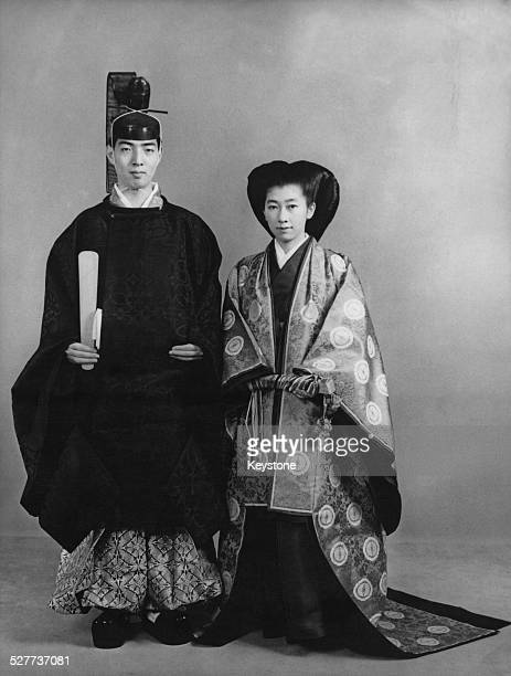 The former Princess Yasuko daughter of Prince and Princess Mikasa of Japan with her husband Tadateru Konoe an official of the Japanese Red Cross...