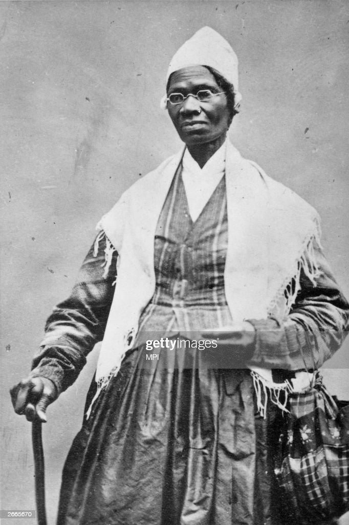 The former slave and abolitionist Sojourner Truth (1797-1883), originally Isabella Van Wagener.