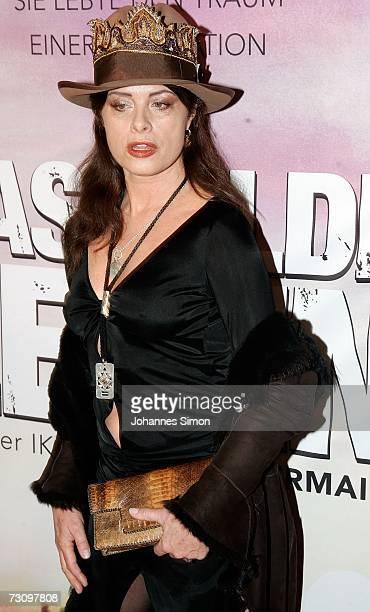 The former top model Uschi Obermaier attends the premiere of Das Wilde Leben on January 24 in Munich Germany