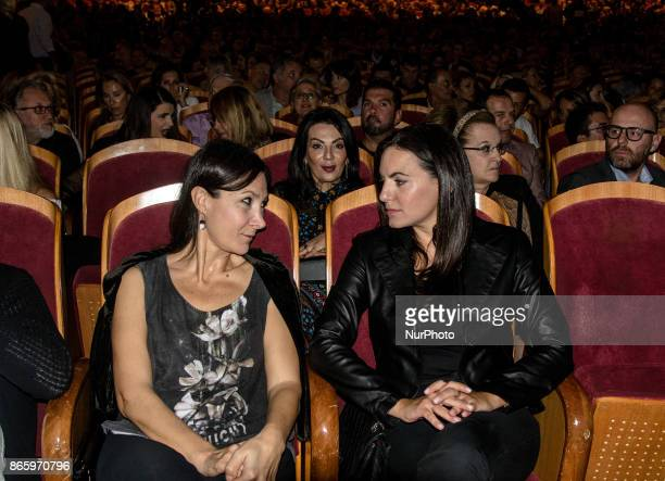 The former Tourism Minister of Greece Olga Kefalogianni at the concert of Carla Bruni Athens Greece 24 October 2017 French Touch is the title of...