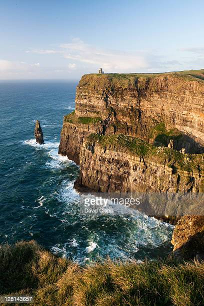 The formidable Cliffs of Moher, a 702 ft high cliff face consisting of five outcrops, County Clare, Republic of Ireland, 1st March 2009