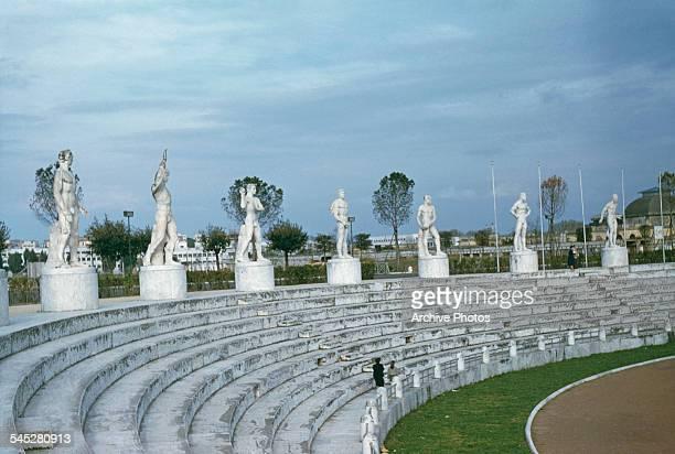 The Foro Italico sports complex Rome Italy circa 1960