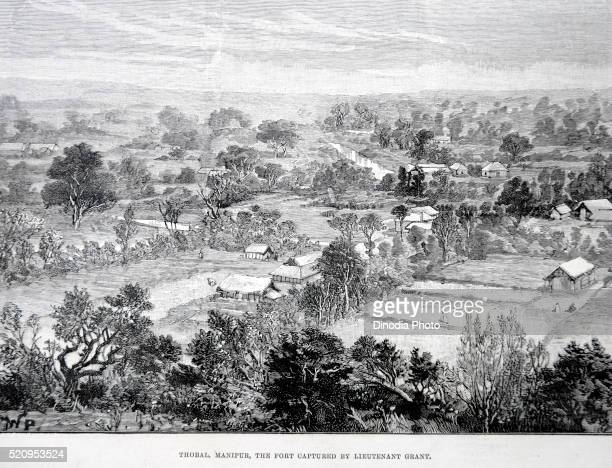 the fort captured by lieutenant grant, thobal, manipur, india - lieutenant stock pictures, royalty-free photos & images