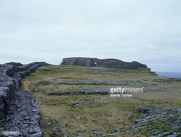 The Fort of Dun Aengus on the Isle of Inishmore Co Galway Said to have been built by the mythical race the Fir Bholg Ireland Celtic 1st5th circa AD...
