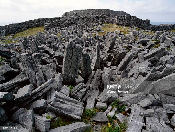 The Fort of Dun Aengus on the Isle of Inishmore Said to have been built by the mythical race the Fir Bholg Ireland Celtic 1st5th circa AD Isle of...