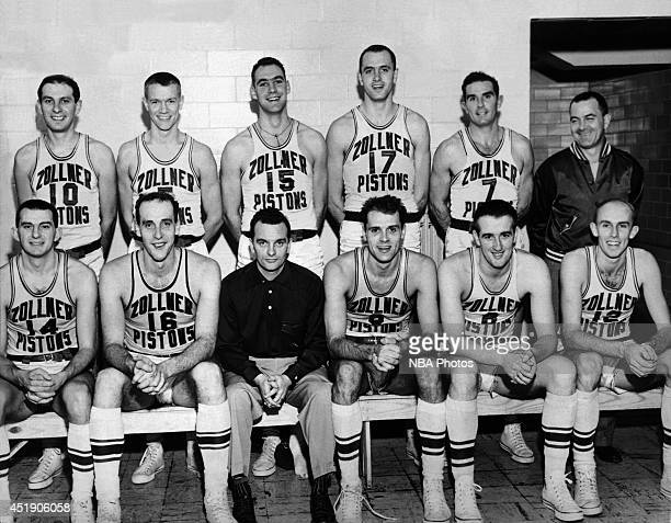 The Fort Wayne Zollner Pistons pose for a team portrait shot circa 1942 in Fort Wayne Indiana NOTE TO USER User expressly acknowledges and agrees...