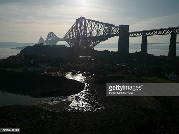 The Forth Bridge, a cantilever, railway bridge over the Firth of Forth in the east of Scotland, to the east of the Forth Road Bridge, and 14 km west...