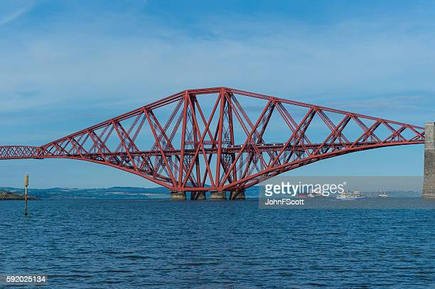 The Forth Bridge spanning the Firth of Forth in Scotland