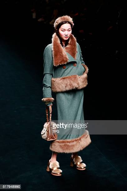 The forth day of Seoul fashion week MISS GEE COLLECTION fashion show on 26th March 2016 in Seoul South Korea