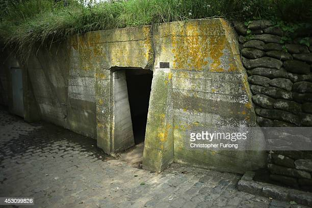 The fortified Advanced Dressing Station near Essex Farm Cemetery where Canadian doctor Lieutenant Colonel John McCrae treated the wounded and...