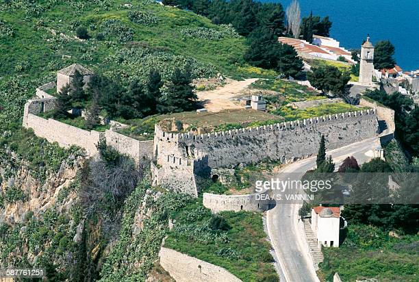 The fortified citadel of Acronafplia view from the Palamidi fortress 17111714 Nafplion Greece
