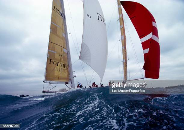 The Fortuna during the start of the Whitbread Round the World Race from Southampton England on 25th September 1993