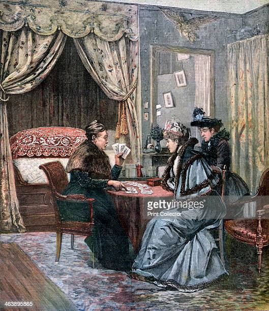 'The Fortune Teller' 1892 A print from the Le Petit Journal 4th June 1892
