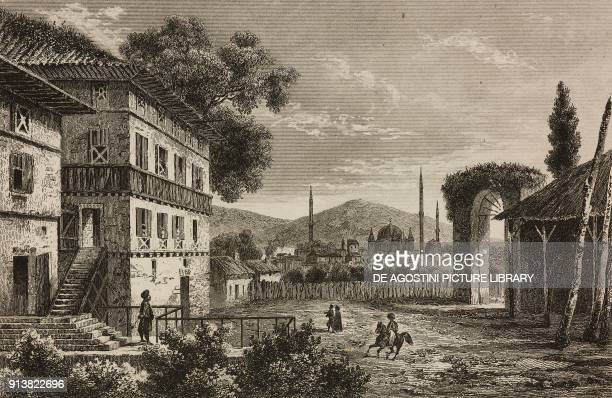 The Forty Churches Turkey engraving by Lemaitre Vormser and Lalisse from Turquie by Joseph Marie Jouannin and Jules Van Gaver L'Univers pittoresque...
