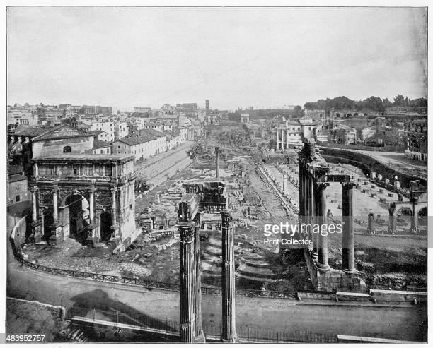 The Forum Rome late 19th century Photograph from Portfolio of Photographs of Famous Scenes Cities and Paintings by John L Stoddard published by the...