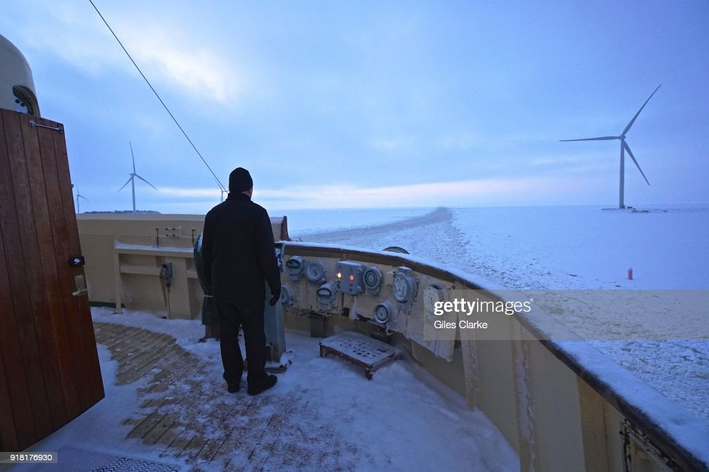 ONBOARD AN ICEBREAKER IN NORTH FINLAND : News Photo