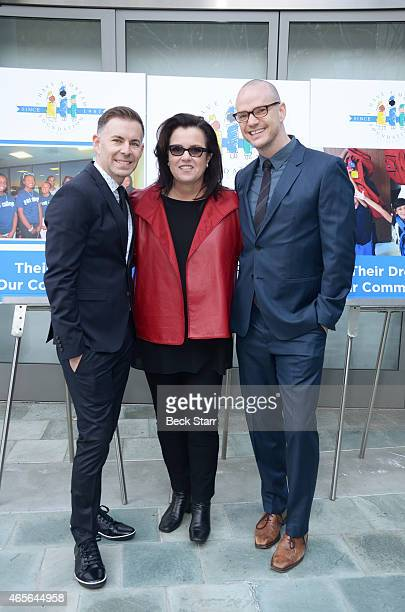 The Fosters creator/executive producer Bradley Bredeweg TV host Rosie O'Donnell and actor Peter Paige attend the I Have A Dream Foundation Los...
