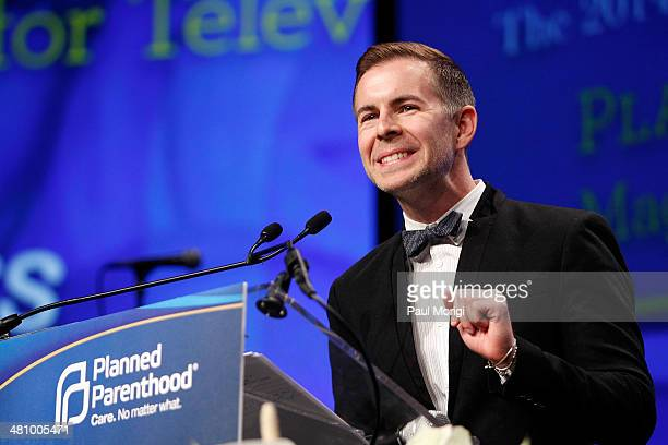 The Fosters Executive Producer Brad Bredeweg makes a few remarks after receiving a Maggie Award for Television at the Planned Parenthood Federation...