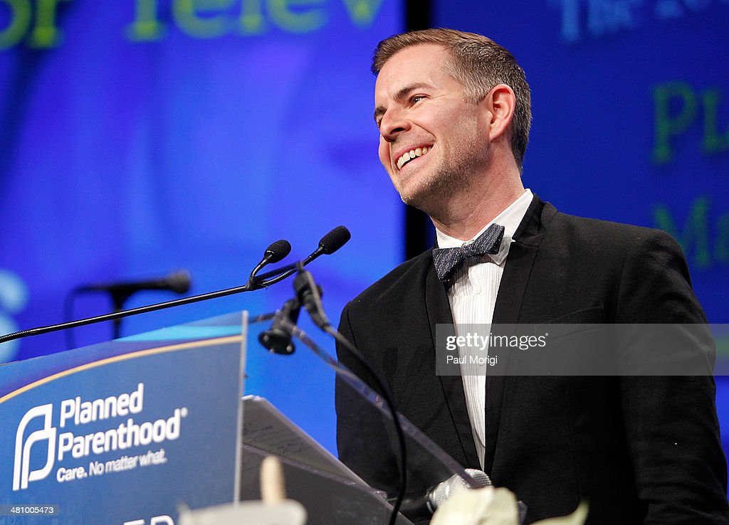 The Fosters Executive Producer Brad Bredeweg makes a few remarks after receiving a Maggie Award for Television at the Planned Parenthood Federation Of America's 2014 Gala Awards Dinner at the Marriott Wardman Park Hotel on March 27, 2014 in Washington, DC.