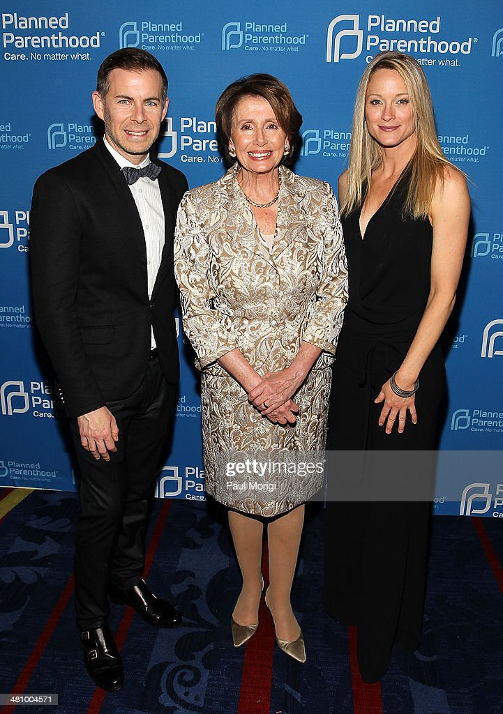 'The Fosters' Executive Producer Brad Bredewegi, U.S. House Minority Leader Rep. Nancy Pelosi (D-CA) and actress Teri Polo (R) attend the Planned Parenthood Federation Of America's 2014 Gala Awards Dinner at the Marriott Wardman Park Hotel on March 27, 2014 in Washington, DC.