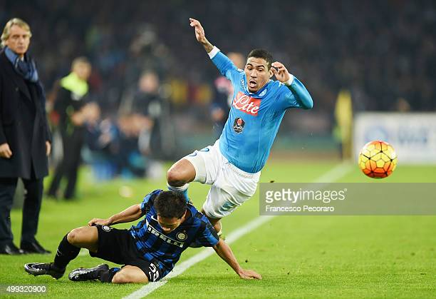 The foul Yuto Nagatomo players Internazionale Milano against Marques Loureiro Allan that caused the expulsion to Yuto Nagatomo during the Serie A...