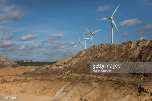 The foundation for a wind turbine is pictured on March 13 2019 in Feldheim Germany