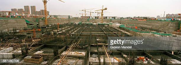The foundations of the National Indoor Stadium for the 2008 Beijing Olympics The stadium will house gymnastics trampolining and handball China is...