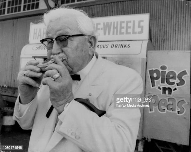 The founder of the American take away chicken chain Col H Sanders tested an Australian meat pie for the first time The Colonel chose Harrys Cafe De...