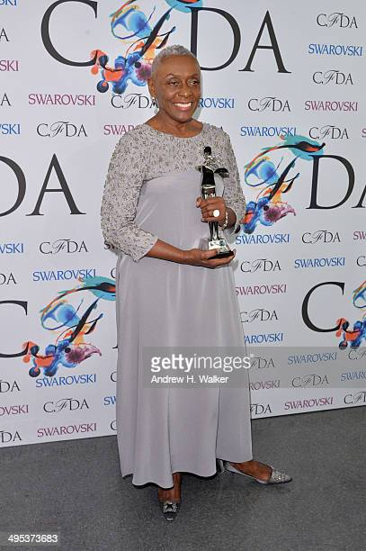 The Founders award in honor of Eleanor Lambert recipient Bethann Hardison attends the winners walk during the 2014 CFDA fashion awards at Alice Tully...