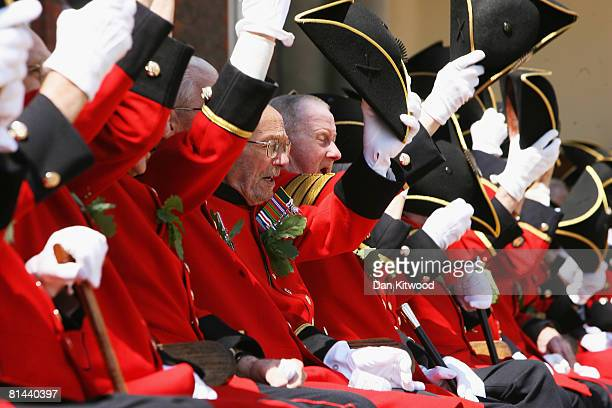 The Founders Day Parade takes place at Chelsea Royal Hospital on June 5, 2008 in London, England. The hospital, a home for British army veterans, is...