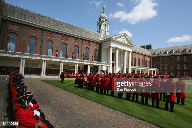 The Founders Day Parade takes place at Chelsea Royal Hospital, on June 5, 2008 in London, England. The hospital, a home for British army veterans, is...