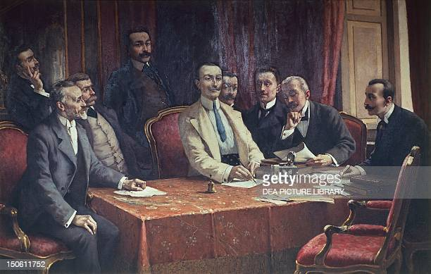 The founders of Fiat by Lorenzo Delleani Italy 19th century