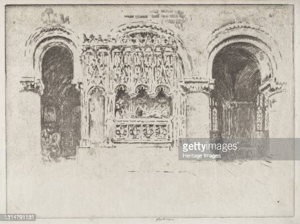 The Founder's Tomb, Church of Saint Bartholomew the Great, 1903. Artist Joseph Pennell.