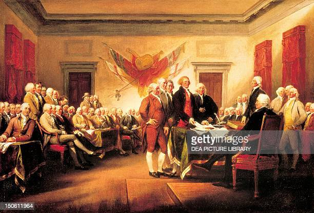 The Founding Fathers presenting their draft of the Declaration of Independence to Congress June 28 by John Trumbull 1819 Declaration of Independence...